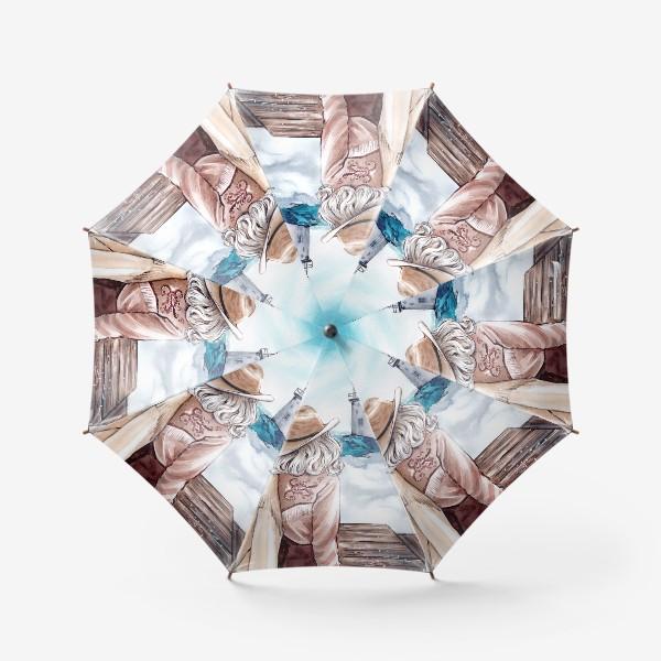 Зонт «между небом и землей»