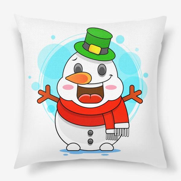 Подушка «Снеговик»