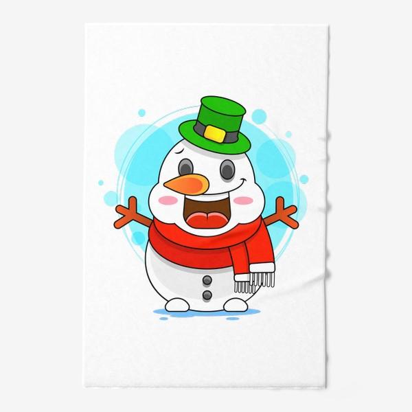 Полотенце «Снеговик»