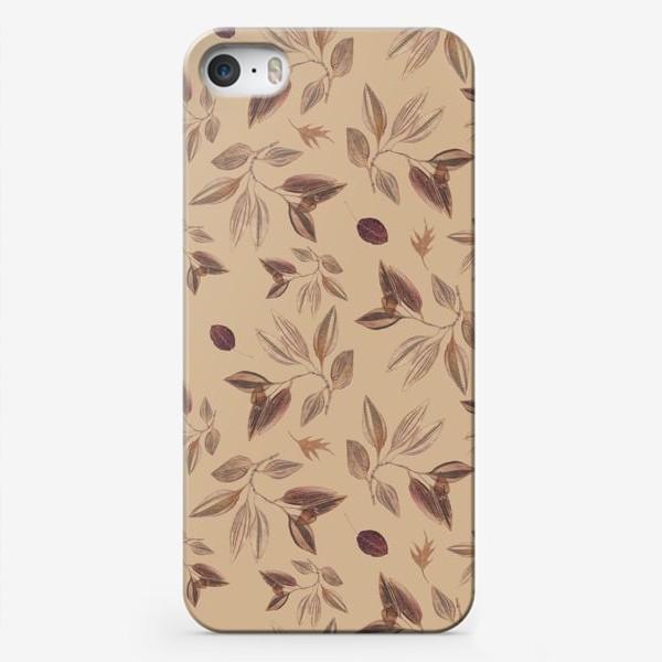 Чехол iPhone «Гербарий. Узор с засушенными листьями.»