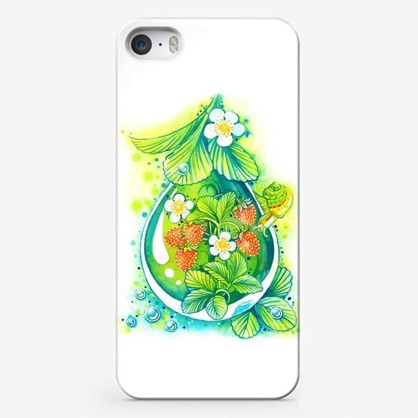 Чехол iPhone «Земляничная капелька.»