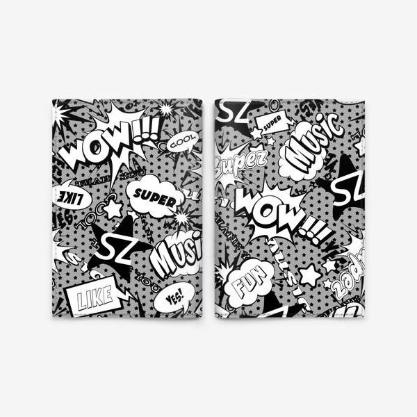 Обложка для паспорта «PopArt black and white»