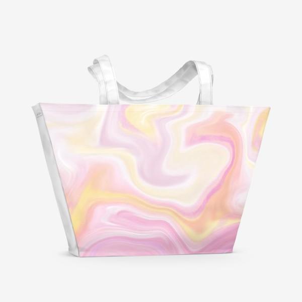 Пляжная сумка «Мраморный узор»