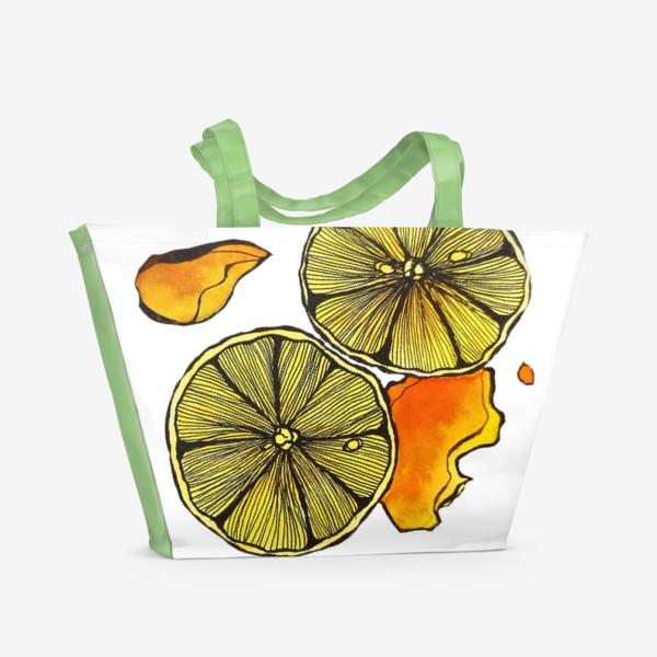 Пляжная сумка «Сочный цитрус»