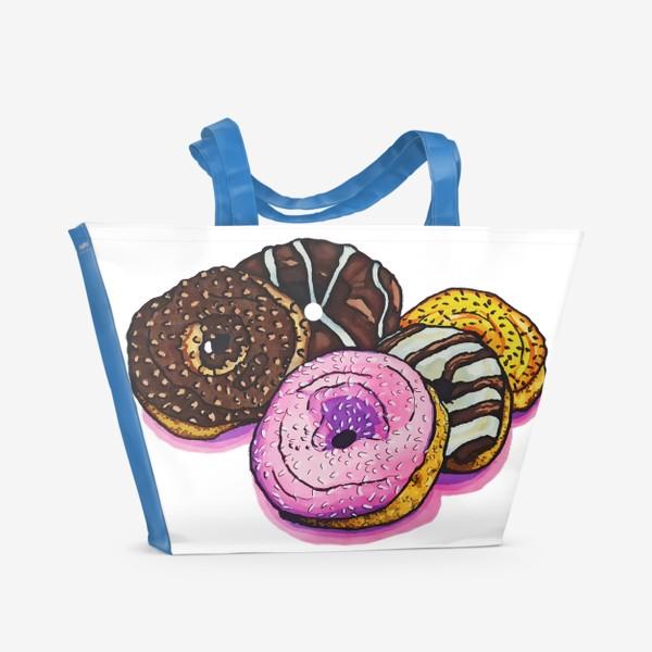 Пляжная сумка «Сладкие покупки»
