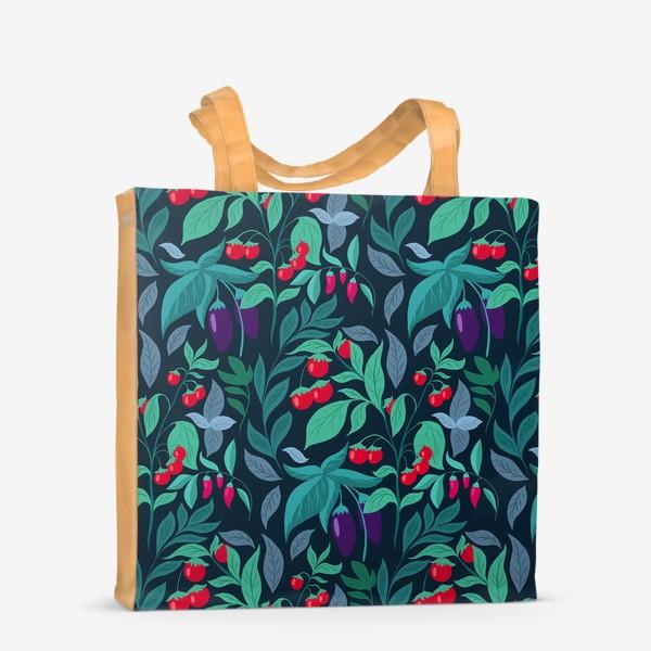 Сумка-шоппер «Паттерн огород »