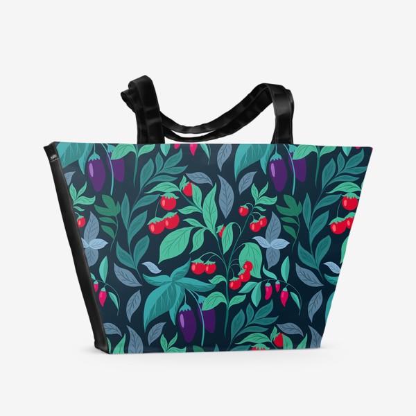 Пляжная сумка «Паттерн огород »
