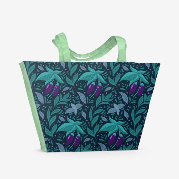 Пляжная сумка «Паттерн баклажаны »