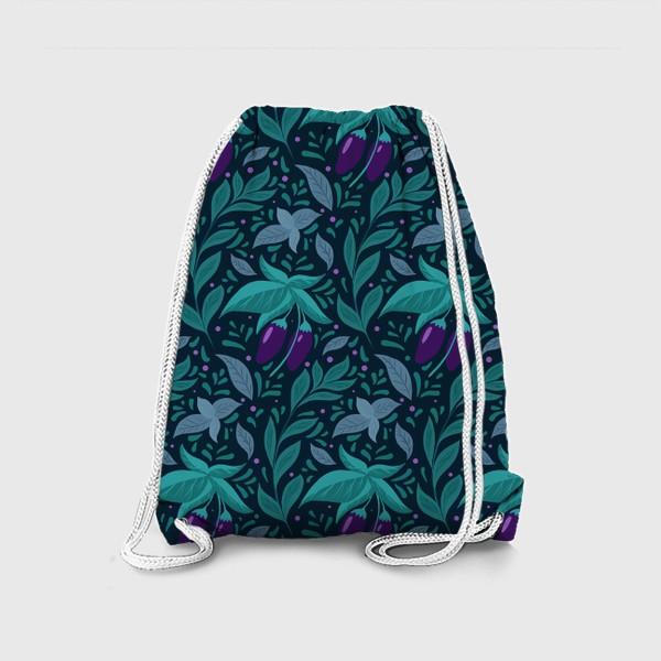 Рюкзак «Паттерн баклажаны »