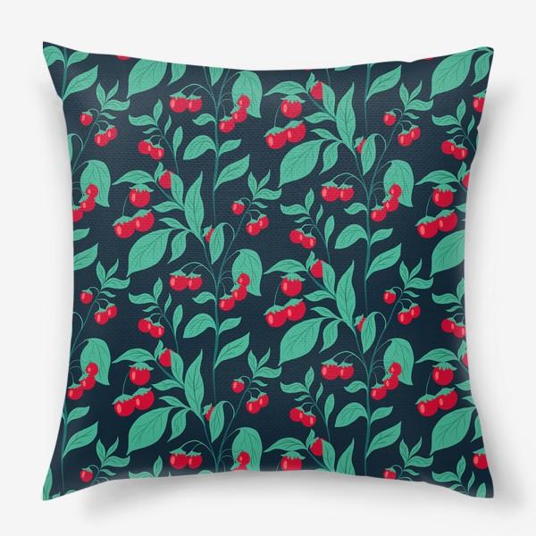 Подушка «Паттерн помидорки черри»
