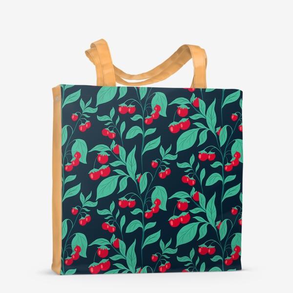 Сумка-шоппер «Паттерн помидорки черри»