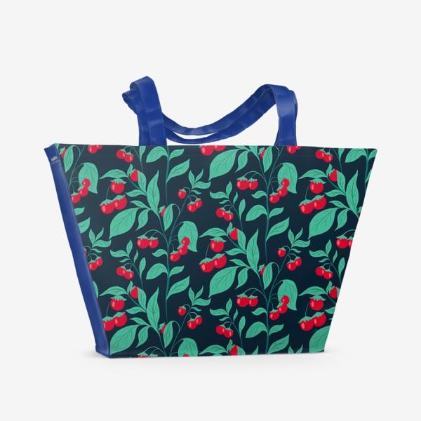 Пляжная сумка «Паттерн помидорки черри»