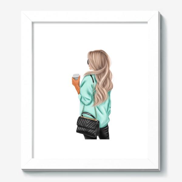 Картина «Девушка с кофе»