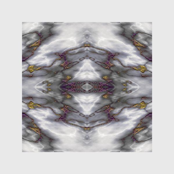 Шторы «Серый мраморный абстрактный орнамент»