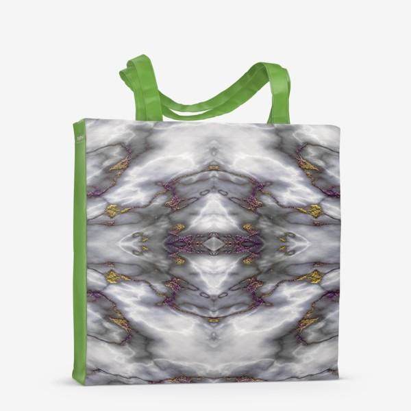 Сумка-шоппер «Серый мраморный абстрактный орнамент»