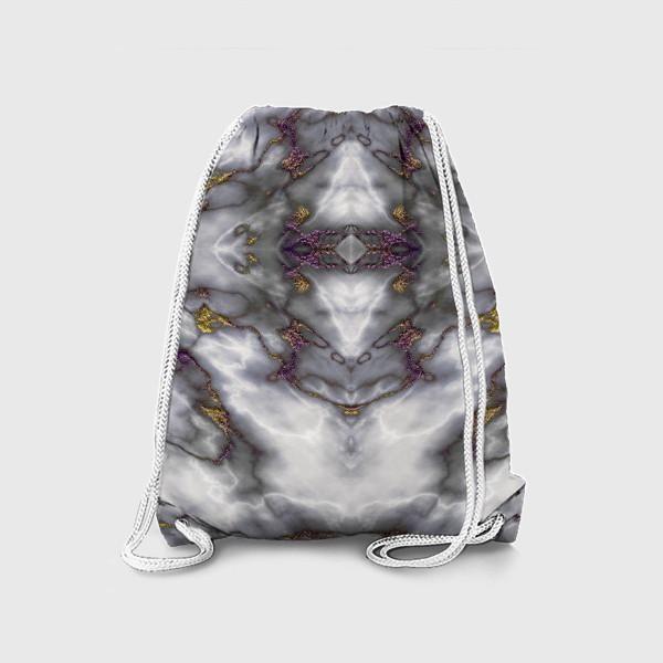 Рюкзак «Серый мраморный абстрактный орнамент»