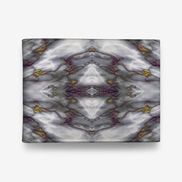 Кошелек «Серый мраморный абстрактный орнамент»