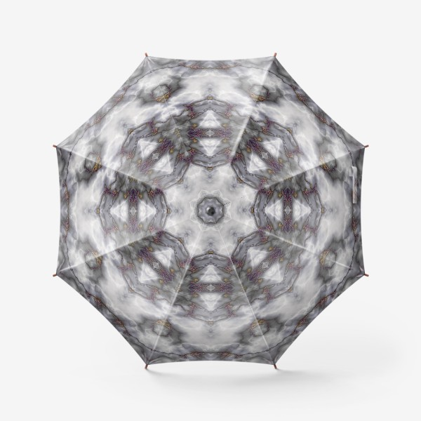 Зонт «Серый мраморный абстрактный орнамент»