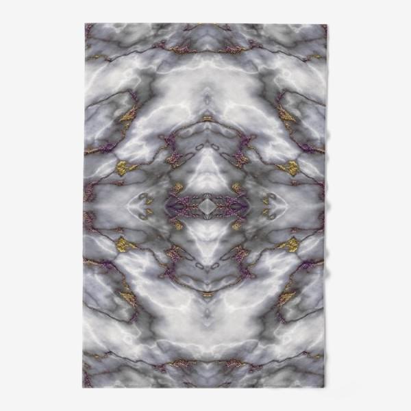 Полотенце «Серый мраморный абстрактный орнамент»