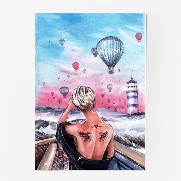 Постер « почувствуй крылья за спиной»