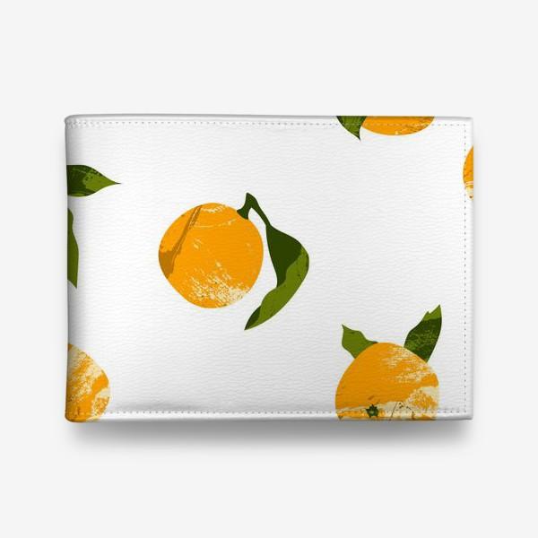 Кошелек «Мандарины, апельсины. Летний цитрусовый паттерн»