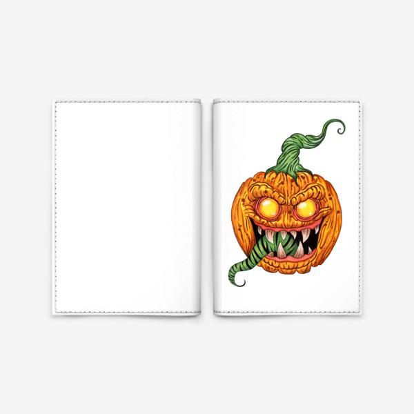Обложка для паспорта «Злая тыква»