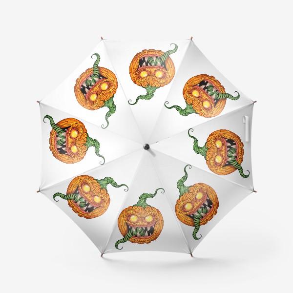 Зонт «Злая тыква»