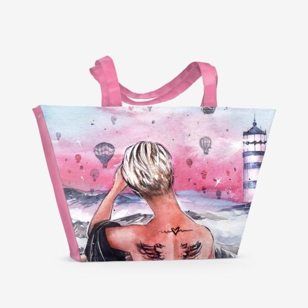 Пляжная сумка « почувствуй крылья за спиной»