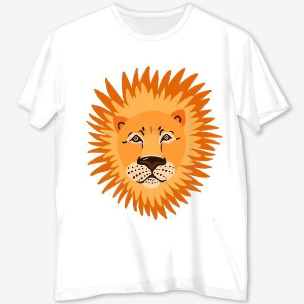 Футболка с полной запечаткой «лев»