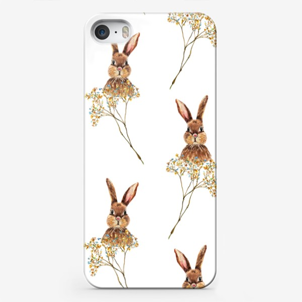 Чехол iPhone «Зайки»