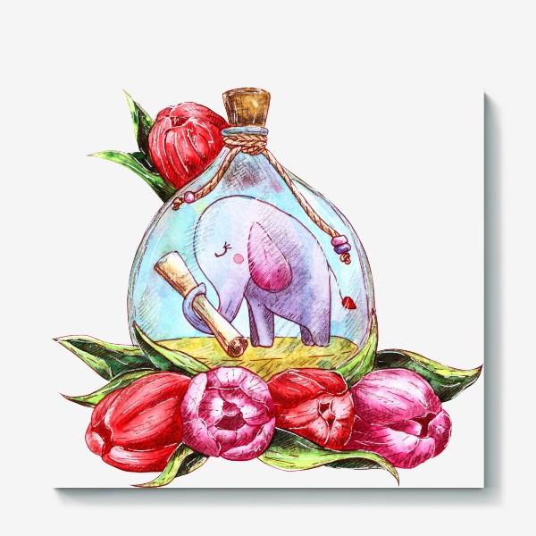 Холст «Письмо в бутылке»