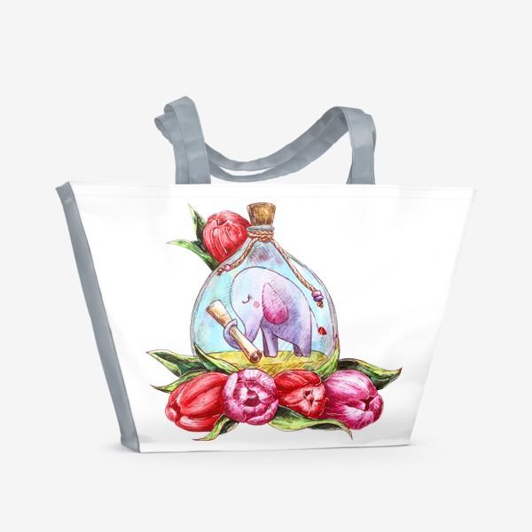 Пляжная сумка «Письмо в бутылке»