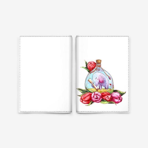 Обложка для паспорта «Письмо в бутылке»