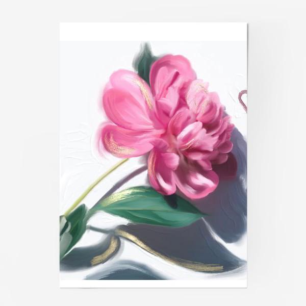 Постер «ПИОН диджитал картина в стиле масло постер»