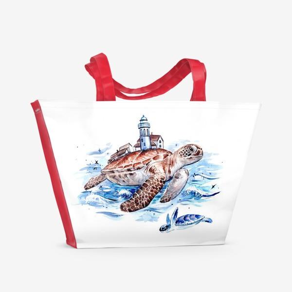 Пляжная сумка «путешествия»