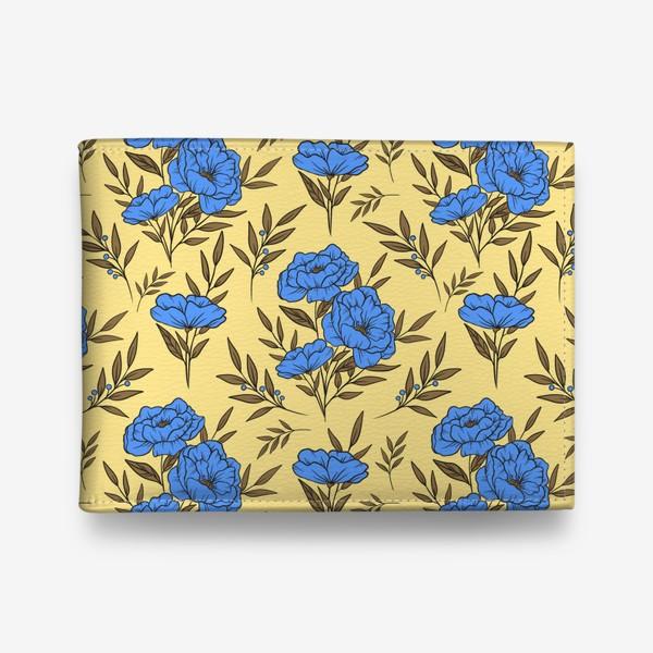 Кошелек «Синие маки»