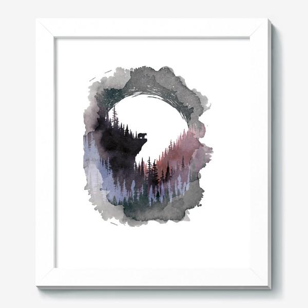 Картина «Bear and Moon»