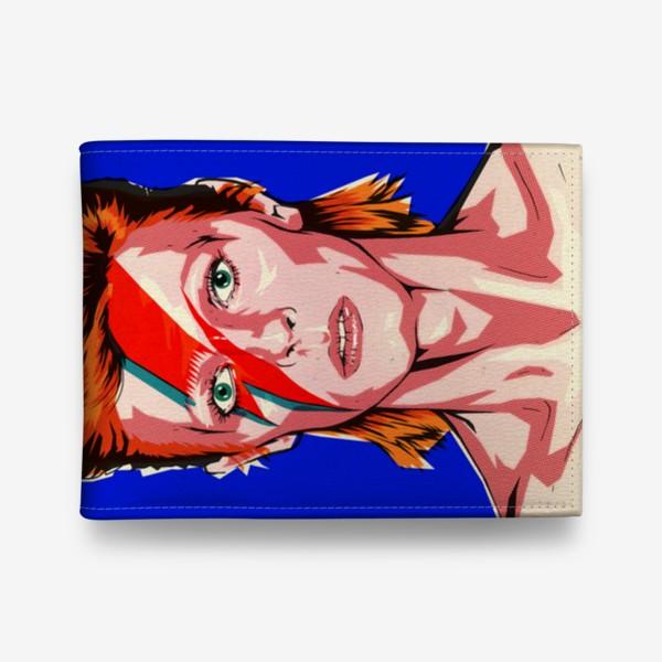Кошелек «Зигги Стардаст (Дэвид Боуи) эффект печати под ретро»
