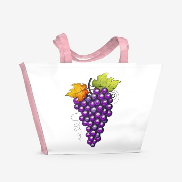 Пляжная сумка «Виноград»