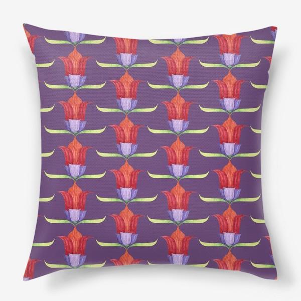 Подушка «декоративные цветы»