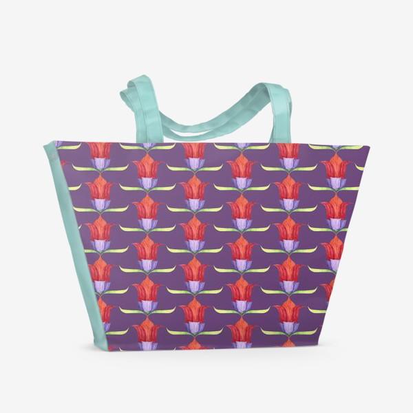 Пляжная сумка «декоративные цветы»