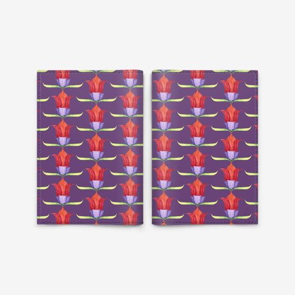 Обложка для паспорта «декоративные цветы»