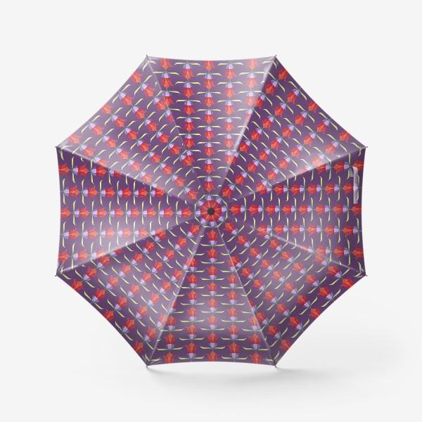 Зонт «декоративные цветы»