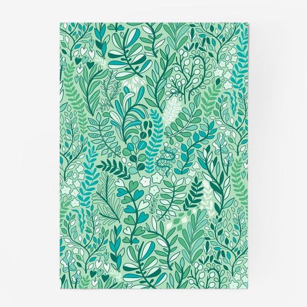 Постер «Летняя зелень. Листья и цветы. Растения»
