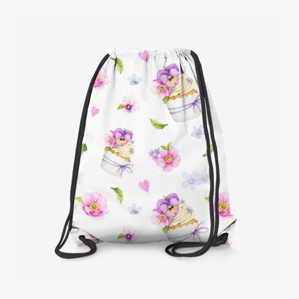 Рюкзак «капкейк с цветами»