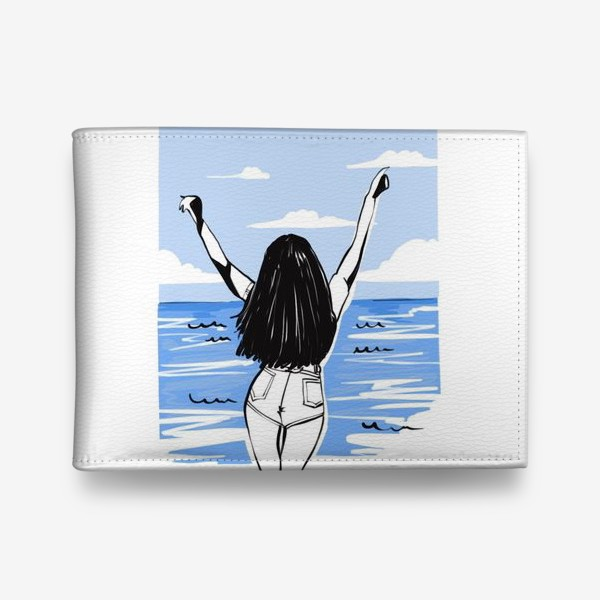 Кошелек «Девушка на море. Лето»