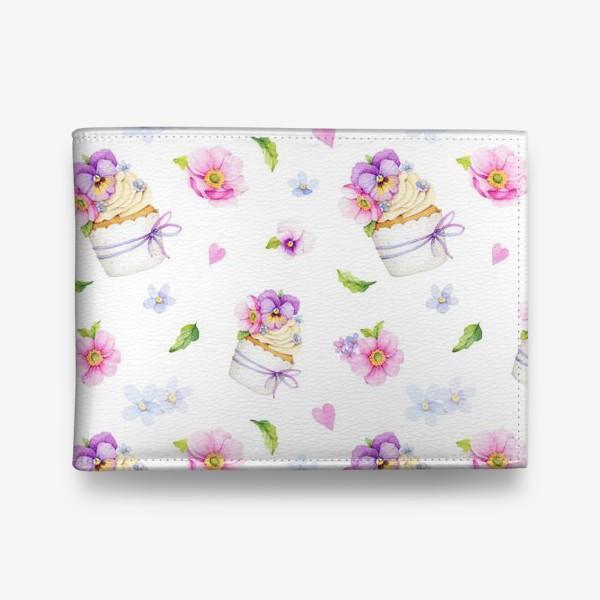 Кошелек «капкейк с цветами»