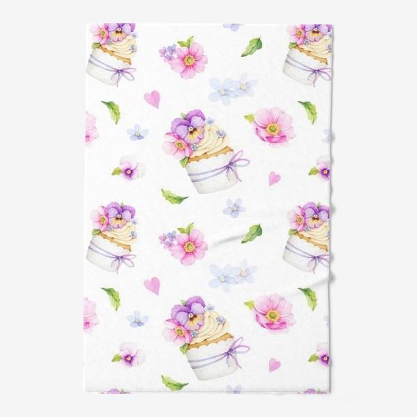 Полотенце «капкейк с цветами»