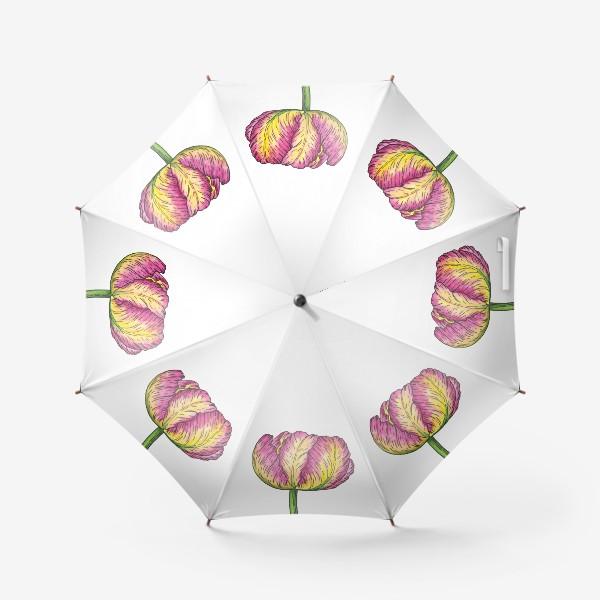Зонт «Пион. Акварель »