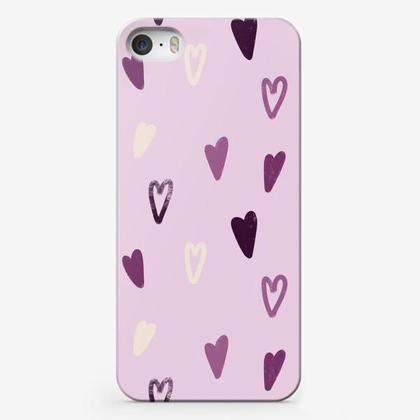 Чехол iPhone «Лавандовые сердечки»